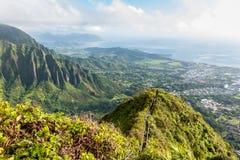 Stairway to Heaven in Oahu island Hawaii. Scenic view from Stairway to Heaven in Oahu island Hawaii Royalty Free Stock Photo