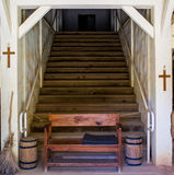 Stairway to Heaven. A stairway to heaven in an old mission church Royalty Free Stock Photography