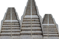 Stairway to heaven. Podium of the three ladders lifting direction Stock Image