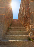Stairway to heaven. Stone stairway to heaven. Concept Royalty Free Stock Photo