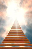 Stairway to heaven/success. /light Stock Image
