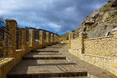 Stairway to heaven. Sudak. Crimea. Stairs in the city of Sudak. built of natural stone Royalty Free Stock Photography
