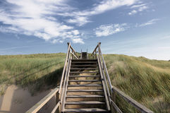 Stairway to heaven. At Sylt near Westerland Royalty Free Stock Photo