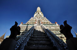 Stairway to heaven at Wat Arun. Wat Arun or Temple of the Dawn is a Buddhist temple in the Bangkok, on the Thonburi west bank of the Chao Phraya River. Wat Arun Stock Photos