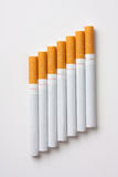Stairway to hell out of cigarettes Royalty Free Stock Photos