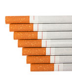 Stairway to hell out of cigarettes Royalty Free Stock Photo