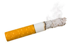 Stairway to hell out of cigarettes Royalty Free Stock Image