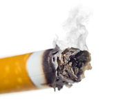 Stairway to hell out of cigarettes Stock Photo