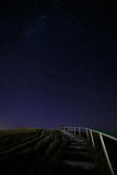 Stairway to hill on the background  night sky Royalty Free Stock Images