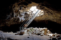 Stairway To Inside The Cave Royalty Free Stock Photos