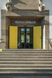 Stairway to the Kunsthalle with yellow doors, building used to b stock image
