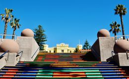 Stairway to. Landscape with colorful painted stairway to Somerset Hospital Royalty Free Stock Images