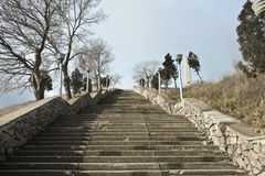 Stairway to Mithridates. Stairway to top of Mithridates mountain in Kerch Stock Photography