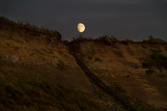 Stairway to the moon Royalty Free Stock Images