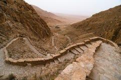 Stairway to Mountain Monastery royalty free stock photo