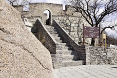 Stairway to the mutianyu great wall Royalty Free Stock Image