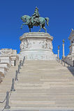 Stairway to the National monument to Vittorio Emanuele II, Roma. Royalty Free Stock Photos