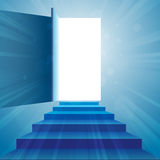 Stairway to Open Door Royalty Free Stock Photos