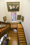 Stairway to paintings by Joaqu�n Sorolla y Bastida (1863-1923) as seen in The Sorolla Museum, Madrid, Spain Royalty Free Stock Photography