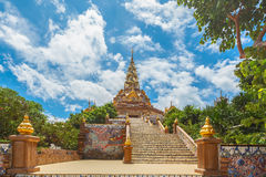 Stairway to Phasornkaew Temple ,Khao Kho Phetchabun Royalty Free Stock Images