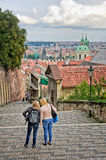 Stairway to Prague Castle Stock Photography