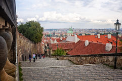 Stairway to Prague Castle Royalty Free Stock Images