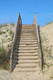 Stairway to a public beach access vertical Stock Image