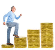 Stairway to retirement Stock Photography