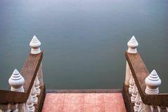 Stairway to the the river. Stairway to the the lake Stock Photography
