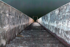 Stairway to the the river. Stairway to the river in night time Stock Image