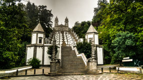 Stairway to Santuario do Bom Jesus do Monte, Braga, Portugal Stock Photo