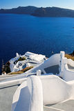 Stairway to sea in Santorini Stock Photos