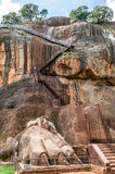 Stairway to Sigiriya Mountain Royalty Free Stock Image