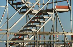 Stairway to the sky. Scaffolding stairway for easy access Stock Photos