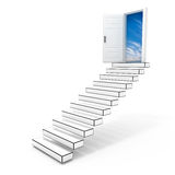 Stairway to the sky. An open door to the freedom Stock Image