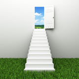 Stairway to the sky. Climbs to the ladder of success Royalty Free Stock Photo