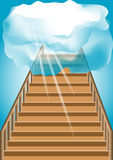 Stairway to the sky Stock Images
