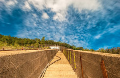 Stairway to the sky. In the afternoon Royalty Free Stock Photography