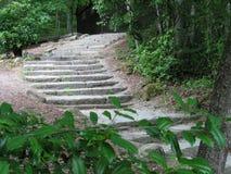 Stairway to somewhere. Rock stairway to somewhere Stock Photo