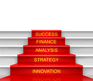 Stairway to success. Stairway to success isolated on white background Stock Photo