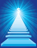 Stairway to the success. Royalty Free Stock Images