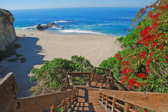 Stairway to Table Rock Beach, Laguna Beach, CA. Stock Image
