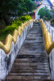 Stairway to a temple in Pai Royalty Free Stock Photography