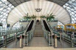 Stairway to terminal at Suvarnabhumi Airport Royalty Free Stock Photos