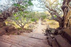 Free Stairway To The Wat Phu Champasak In Laos Stock Image - 66565561
