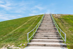 Free Stairway To Top Of Mount Trashmore In Virginia Beach Stock Images - 99127264