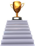 Stairway to trophy. Abstract 3d illustration of stairway to trophy cup Royalty Free Stock Photo