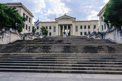 Stairway to the university in Havana, Cuba Royalty Free Stock Images