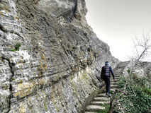 Stairway to the unknown - in San Marino Stock Photos
