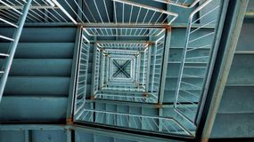 Stairway from top Royalty Free Stock Photography